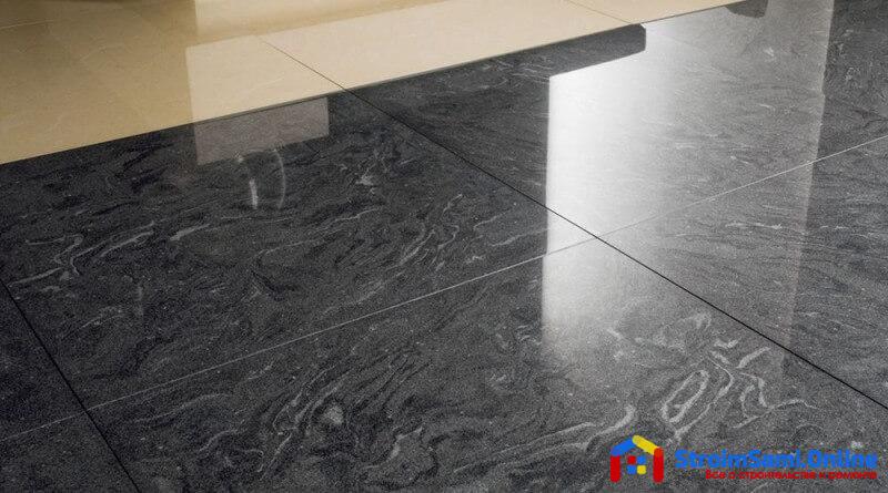 На фото: пол из керамической плитки