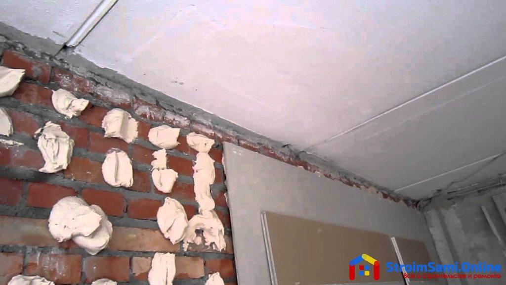 Монтаж гипсокартона на стену клеевым способом