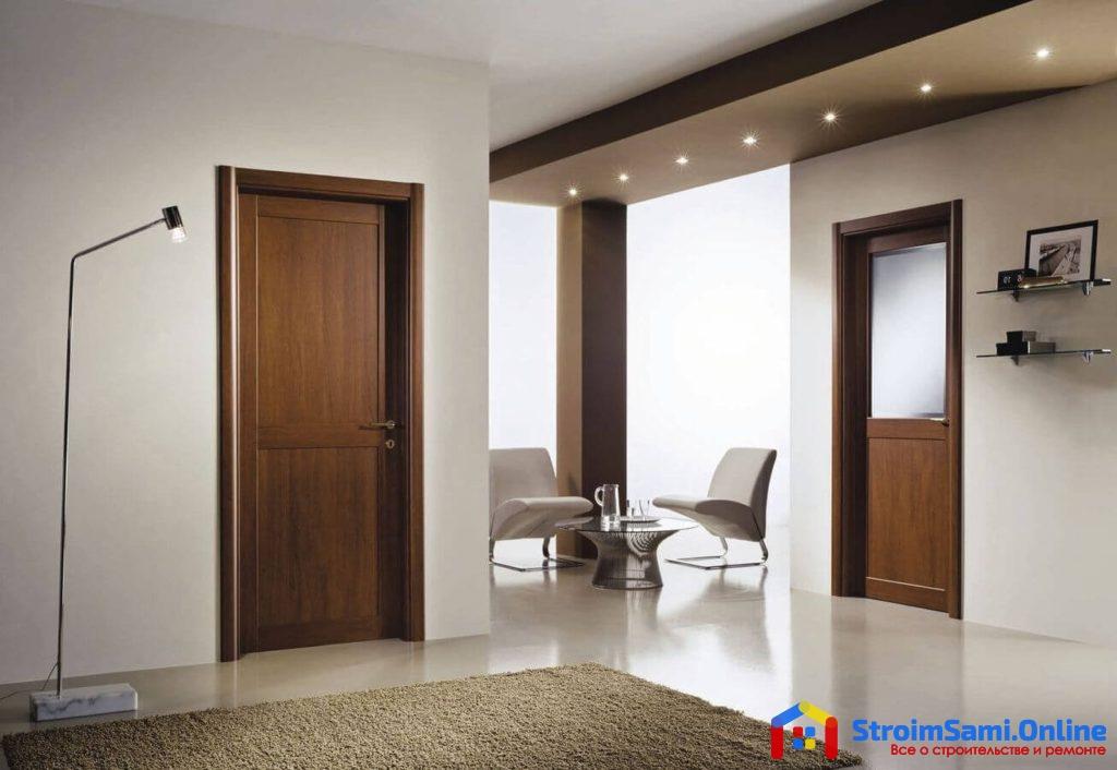 На фото: ламинированные межкомнатные двери