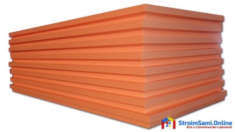На фото: пеноплекс - теплоизоляционный материал