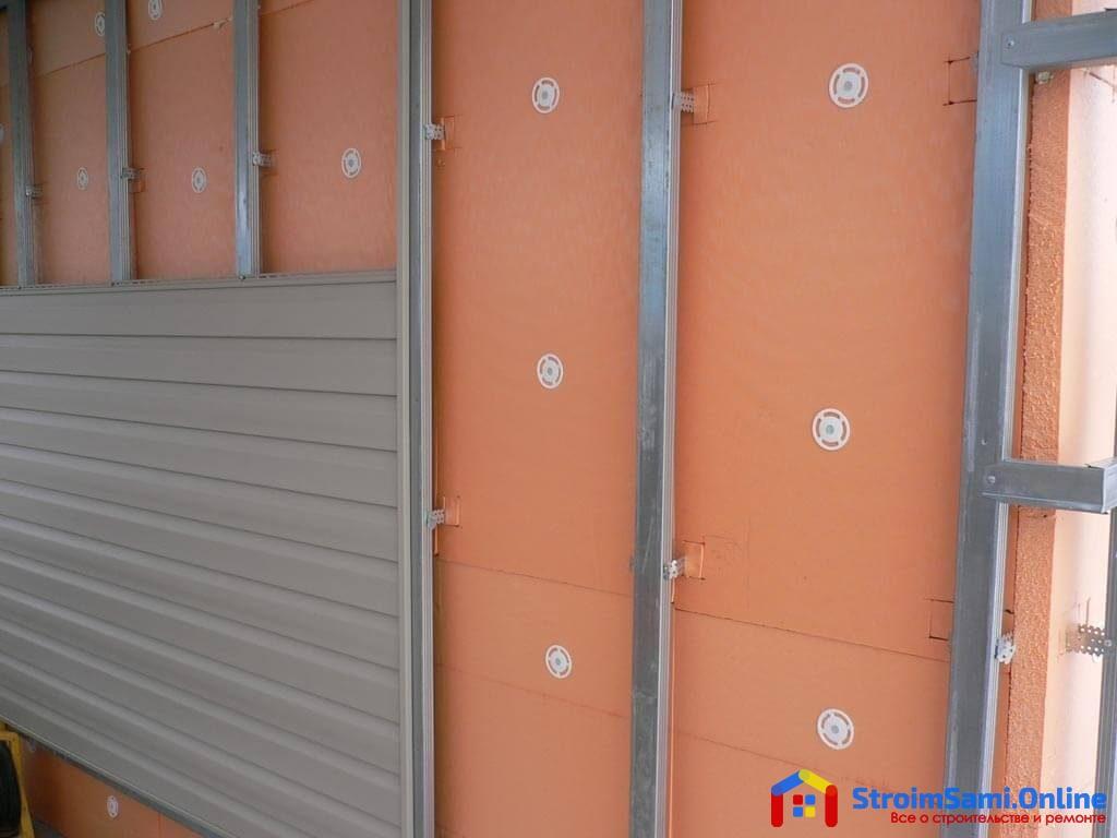 Утепление кирпичной стены дома снаружи пеноплексом
