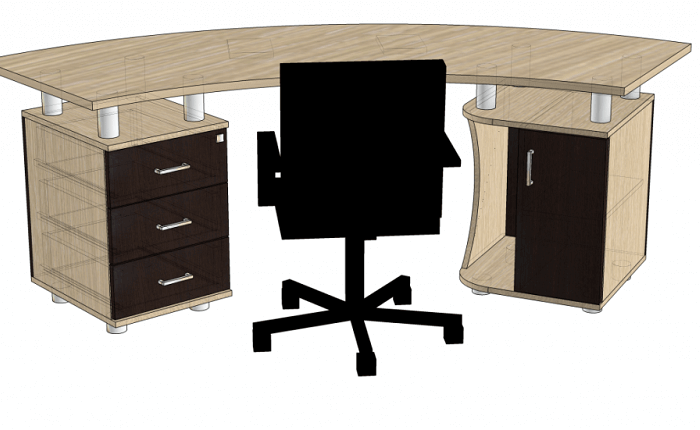На фото: офисный стол