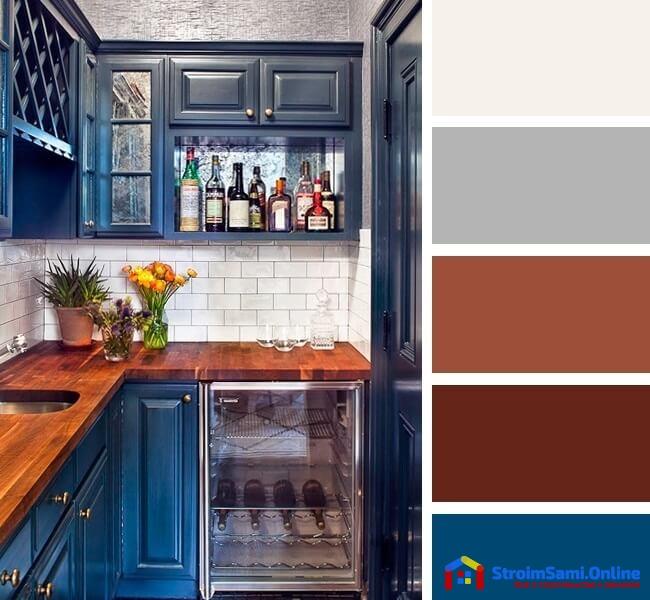 На фото: сочетание цветов в интерьере кухни