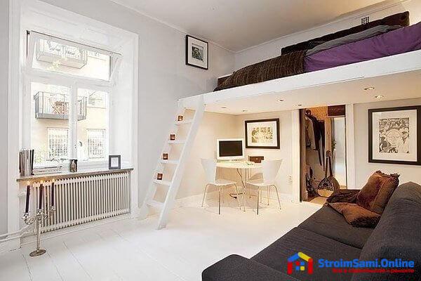 На фото: двухэтажная спальня
