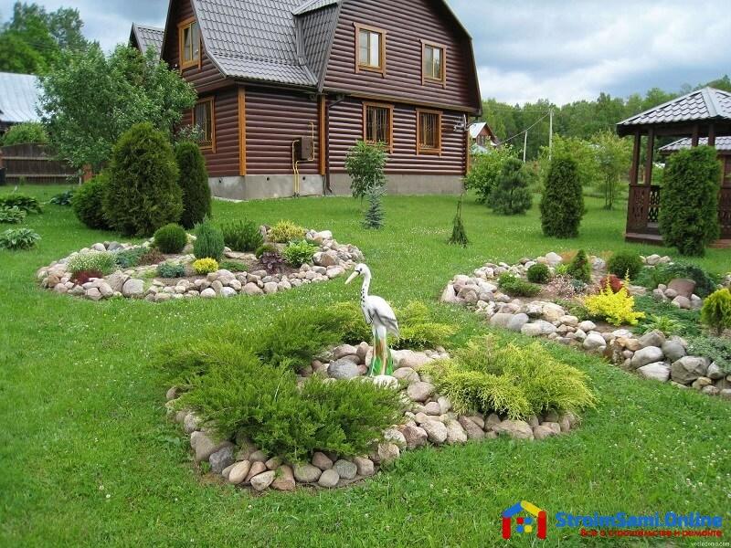 На фото: ландшафтный дизайн дачного участка