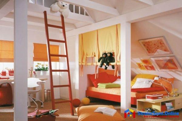 Уютная спальня на мансарде: 15 фото дизайна-интерьера