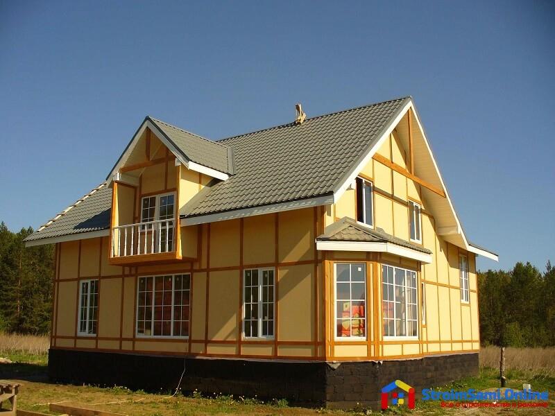 На фото: дом, построенный по канадской технологии