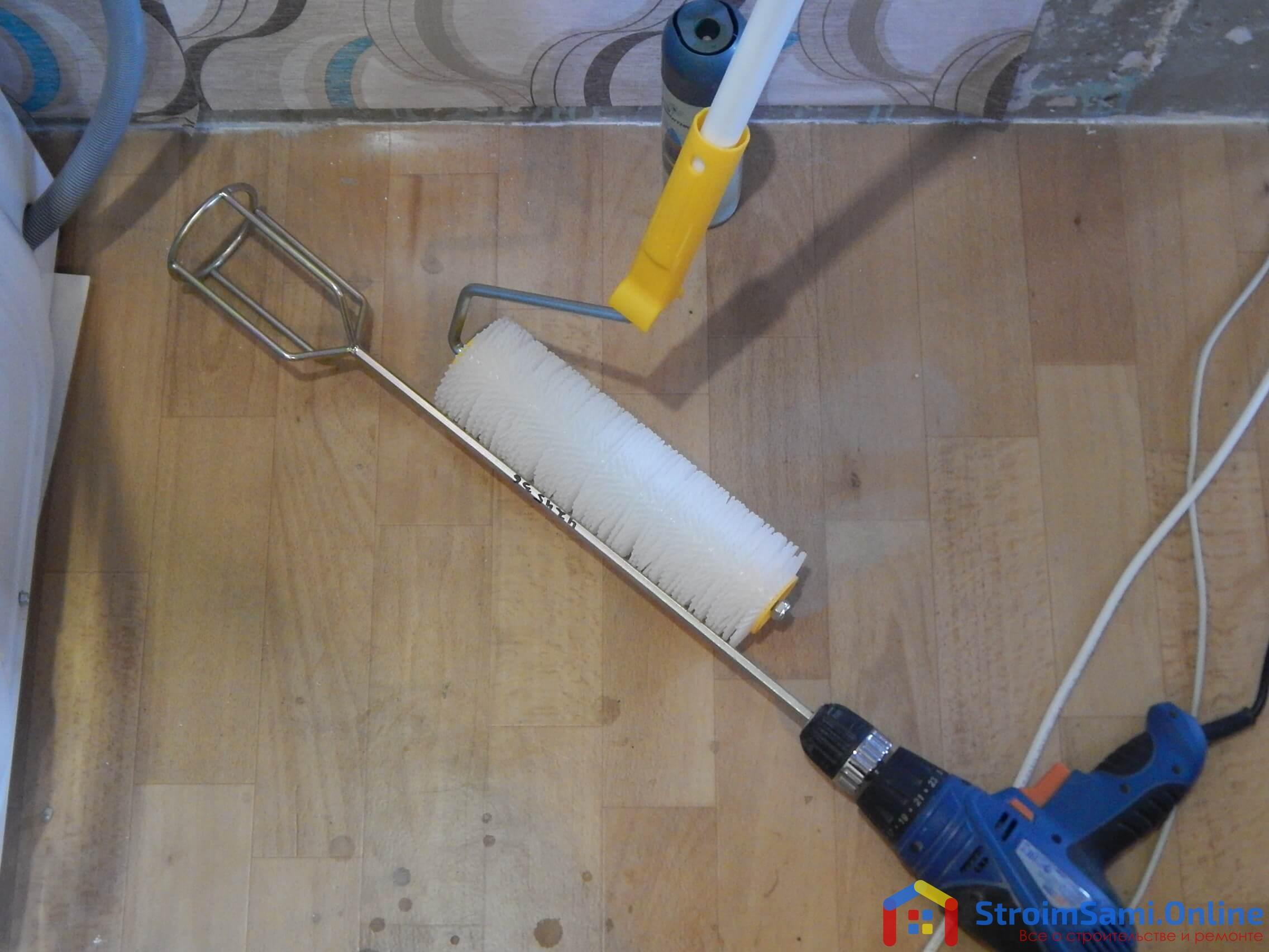 Инструменты для приготовления раствора наливного пола