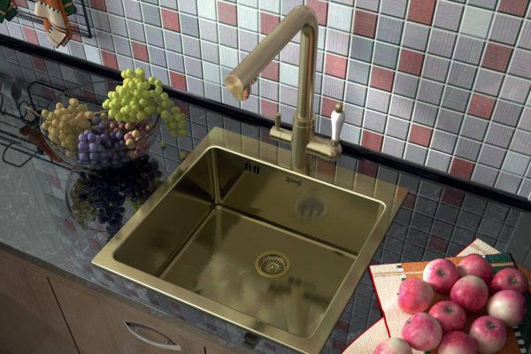 Прямоугольная кухонная мойка