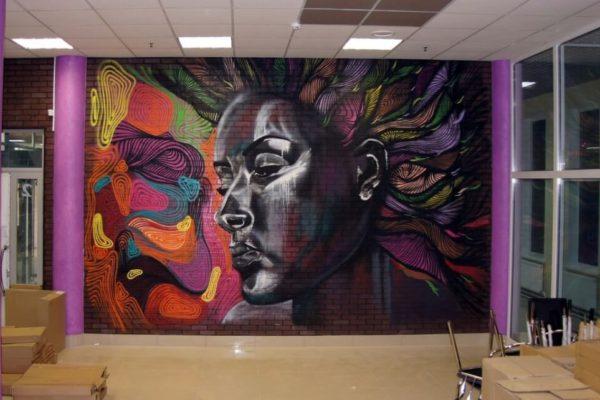 Интересные рисунки на стенах