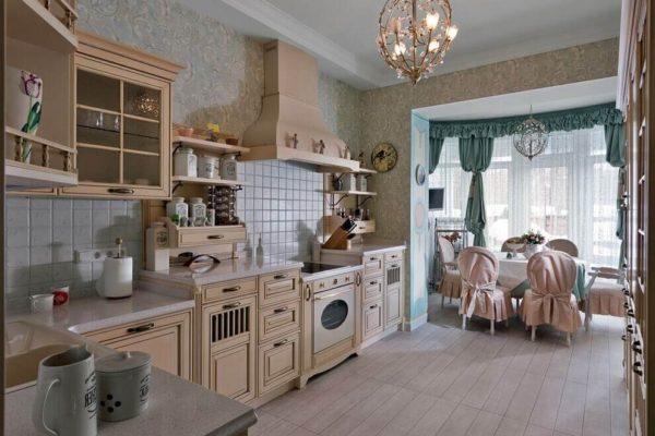 На фото: кухня в стиле прованс