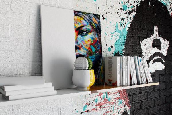 Разрисованные стены в интерьере
