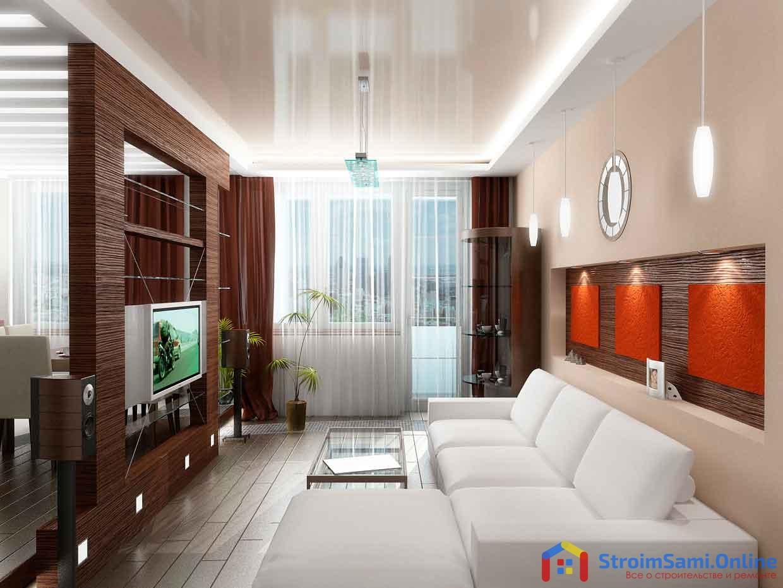 Дизайн маленькой гостиной в квартире