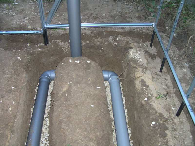 Трубы для обогрева теплицы под землей