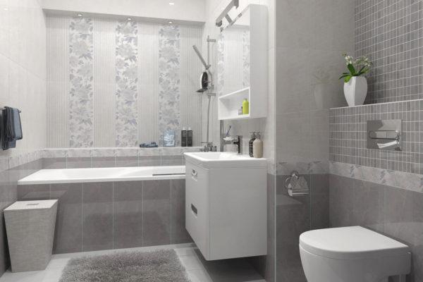 На фото: керамическая плитка в ванной комнате