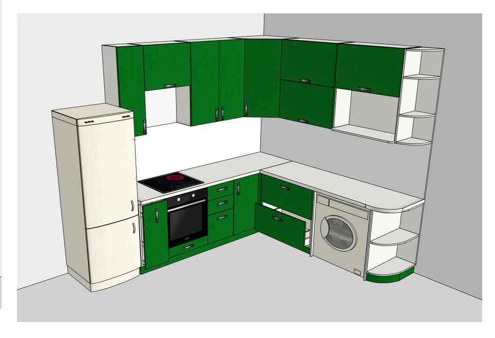На фото: дизайн проект новой кухни
