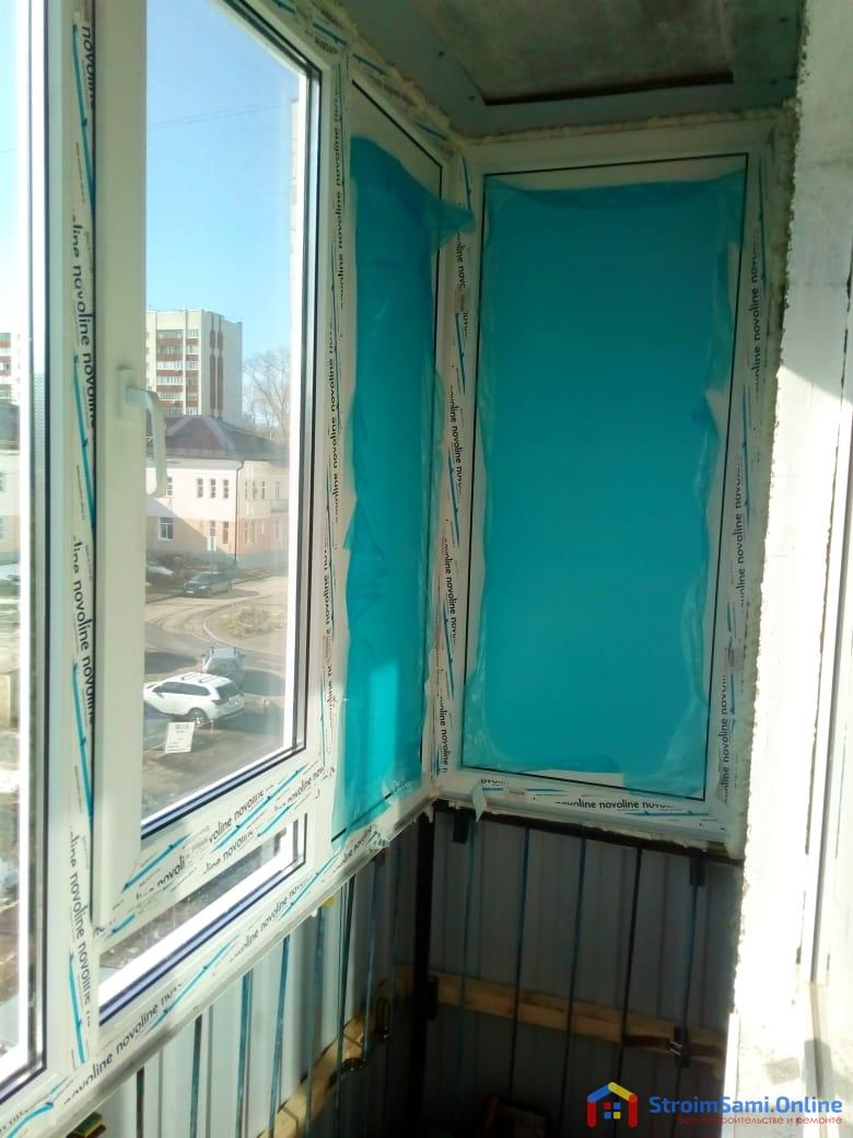 Фото 22: застекленный балкон (вид изнутри)