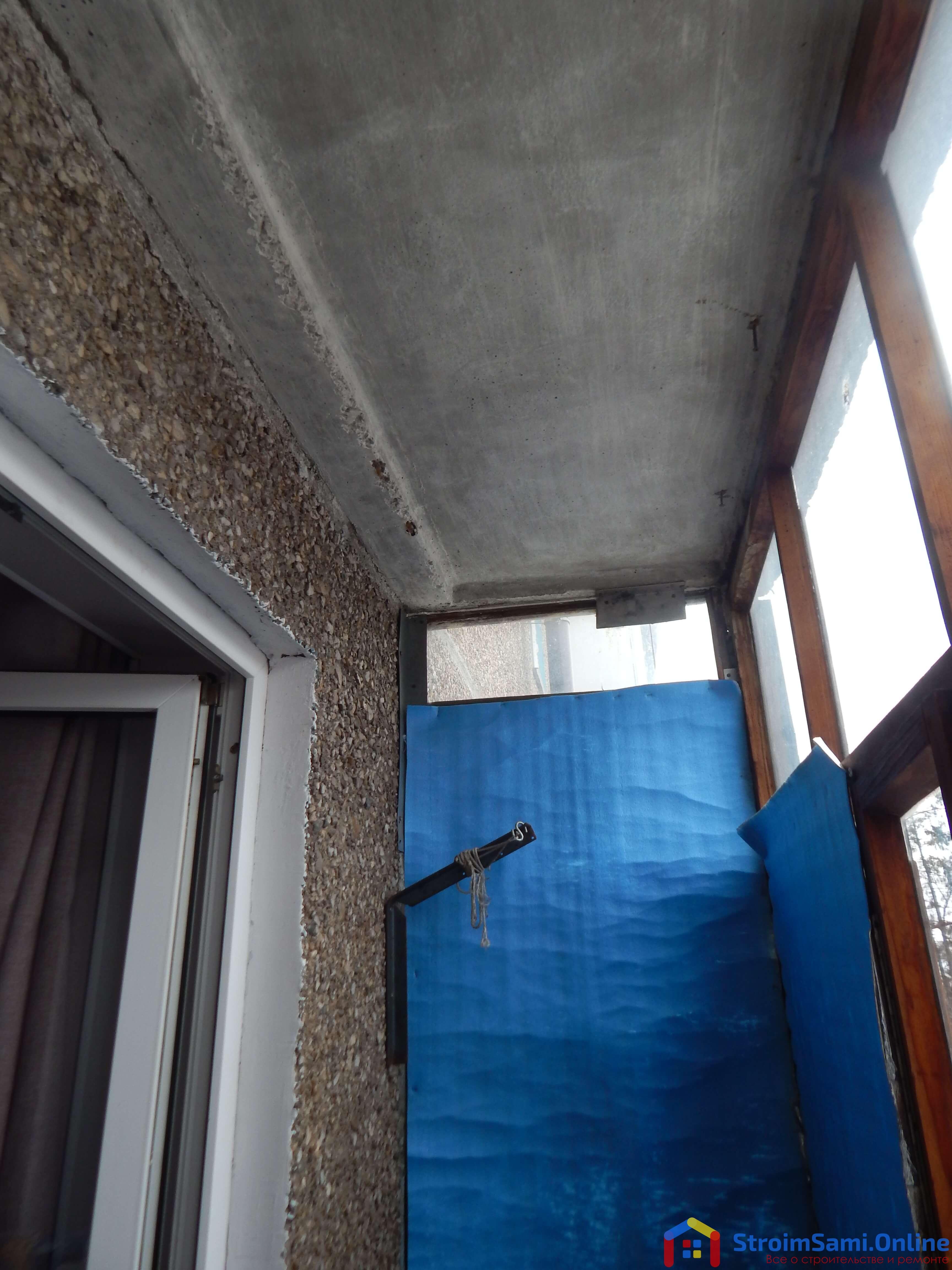 Фото 2: старый балкон в панельной Хрущевке