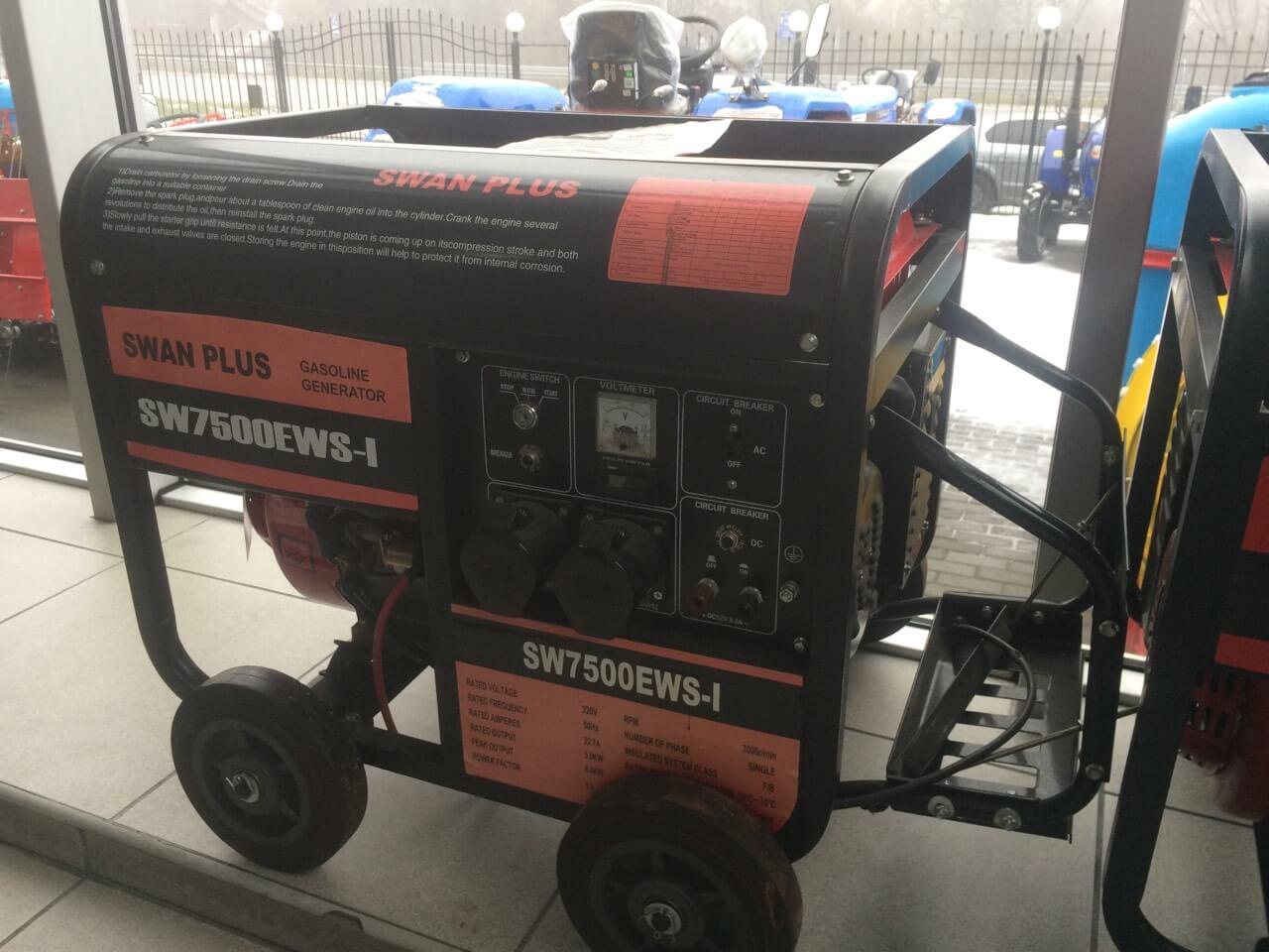 Бензиновый генератор SWAN PLUS SW7500EWS-I