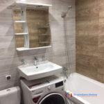 Ремонт ванной комнаты, совмещенной с санузлом: 7 фото примеров