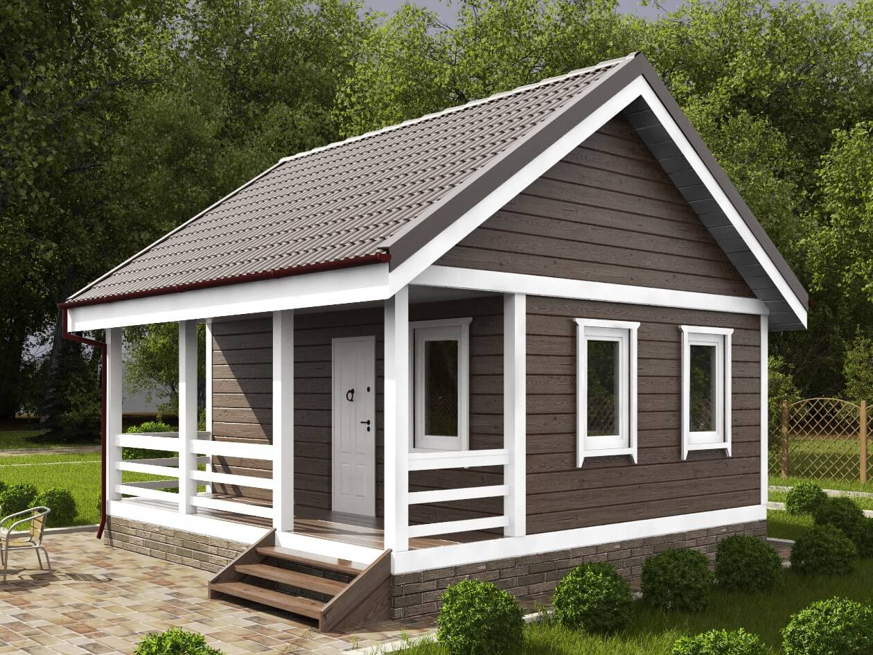 На фото: каркасный дачный дом