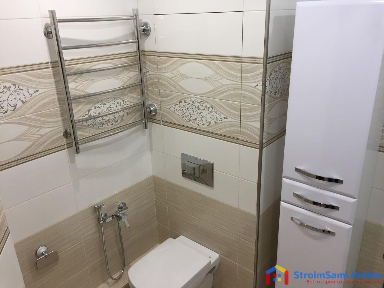 На фото: инсталляция в ванной комнате, совмещенной с санузлом