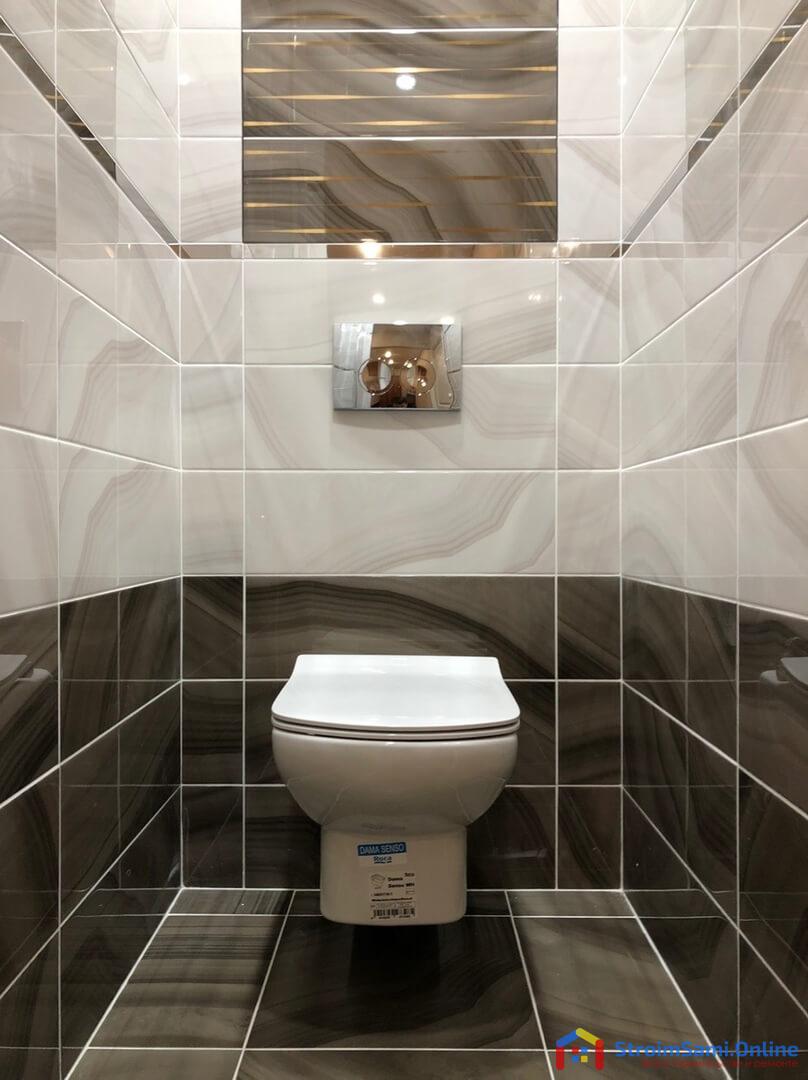 На фото: инсталляция в туалете