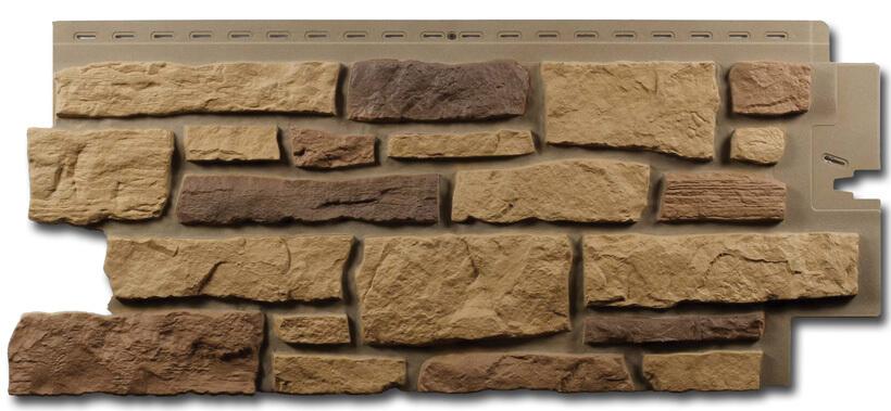 На фото: фасадные панели под камень