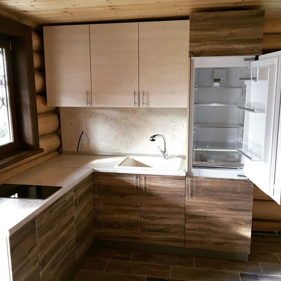На фото: обустройство кухни
