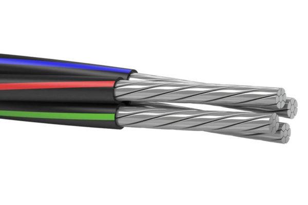На фото: кабель СИП