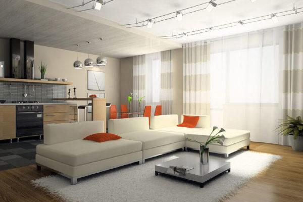 На фото: трековые светильники в интерьере квартиры
