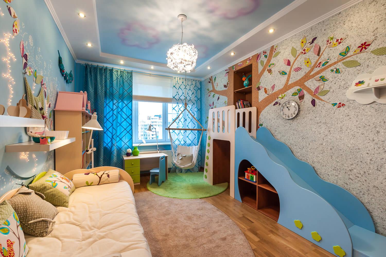 На фото: обои для детской комнаты