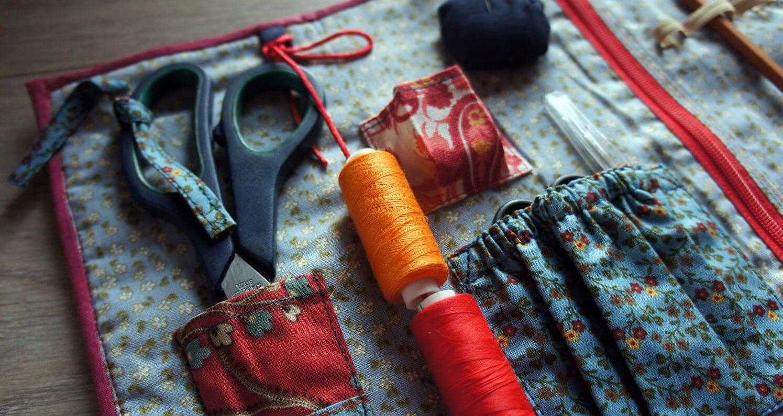 На фото: органайзер для хранения швейных принадлежностей