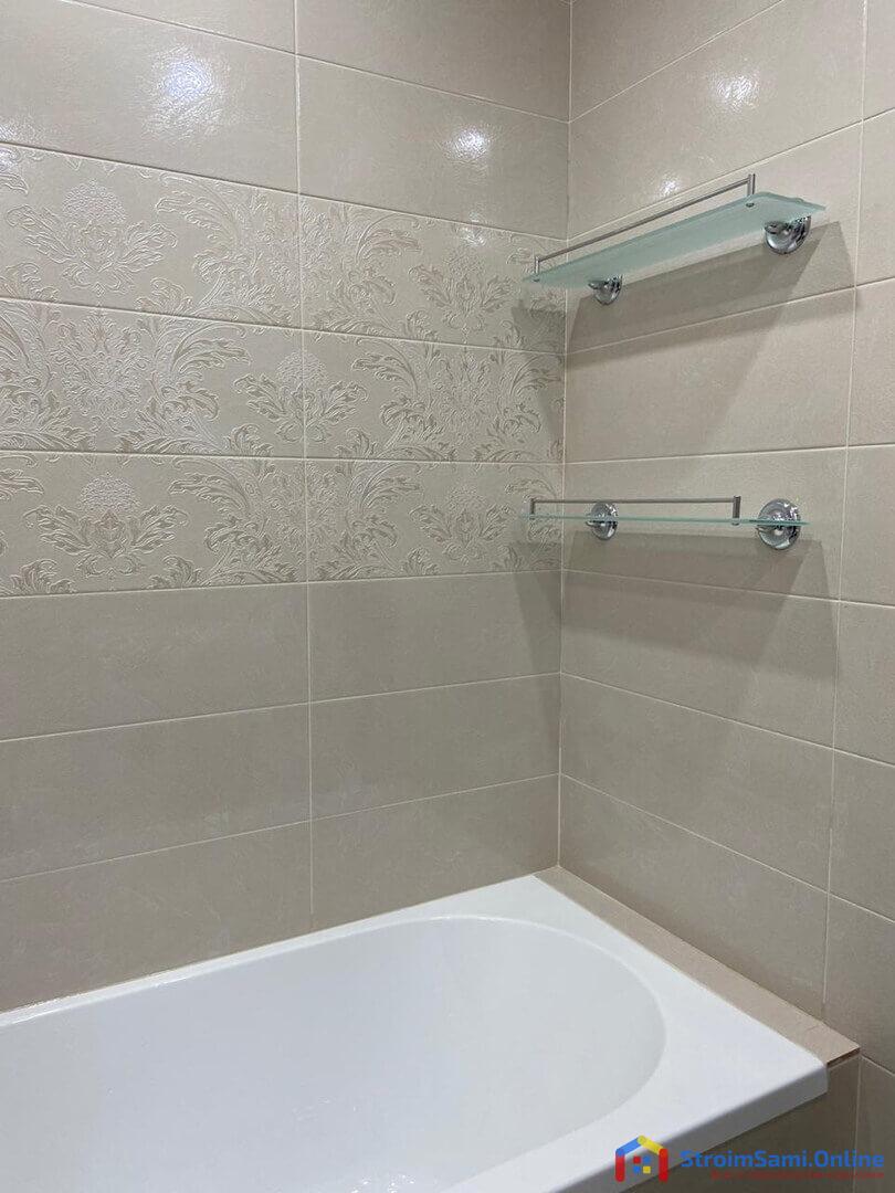 На фото: ремонт в ванной, совмещенной с санузлом