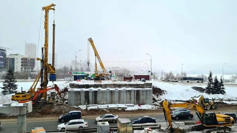 Развязка Заки Валиди и проспект Салавата Юлаева в Уфе: ремонт дороги