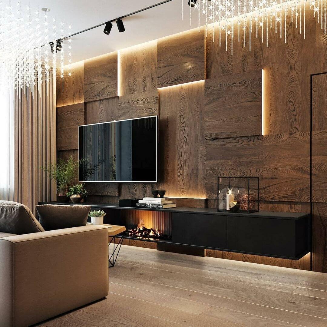 Панели из МДФ в интерьере квартиры: фото