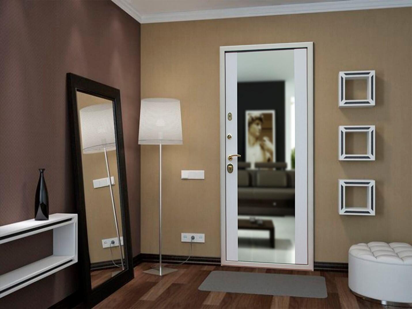 Входные двери с зеркалом: фото в интерьере квартиры