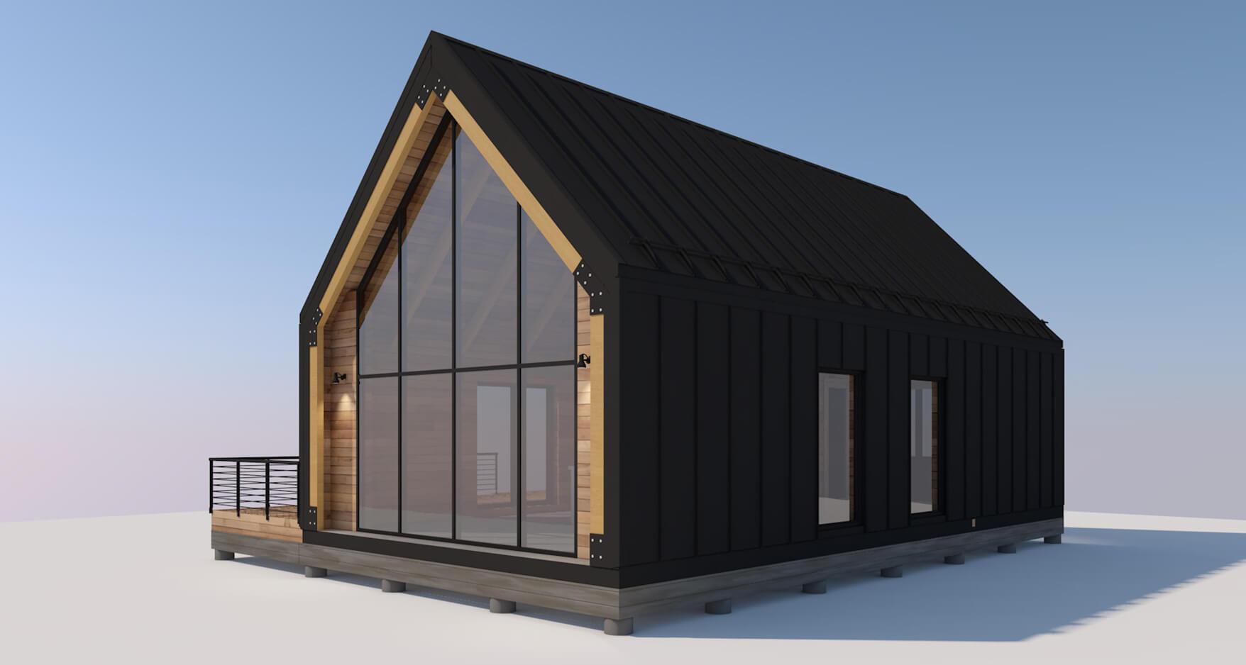 На фото: проект каркасного дома площадью 112 М² / Источник фото: prostohouse.com