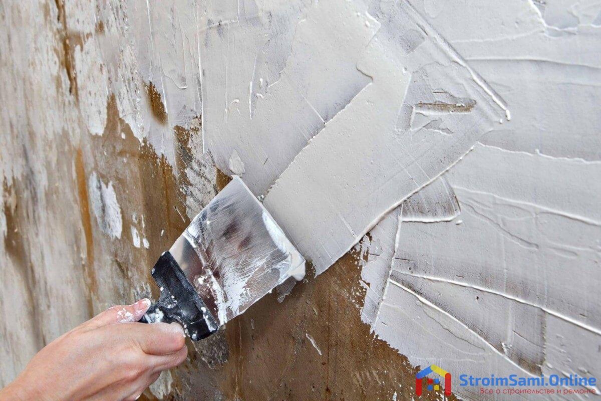 На фото: шпаклевка стен своими руками