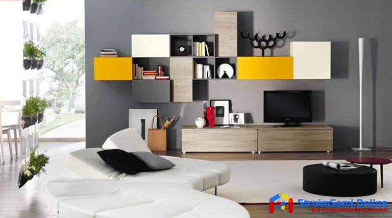 На фото: мебель для зала в современном стиле