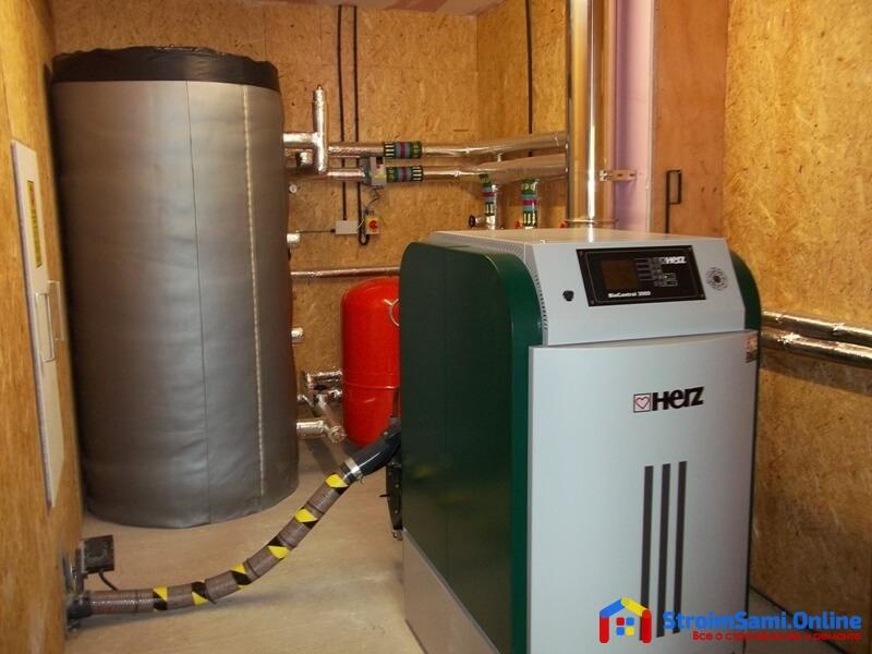 На фото: дизельный котел отопления