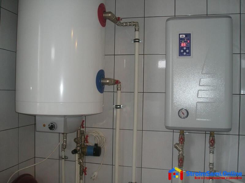 На фото: электрический котел отопления