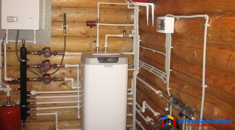 На фото: газовый нагреватель