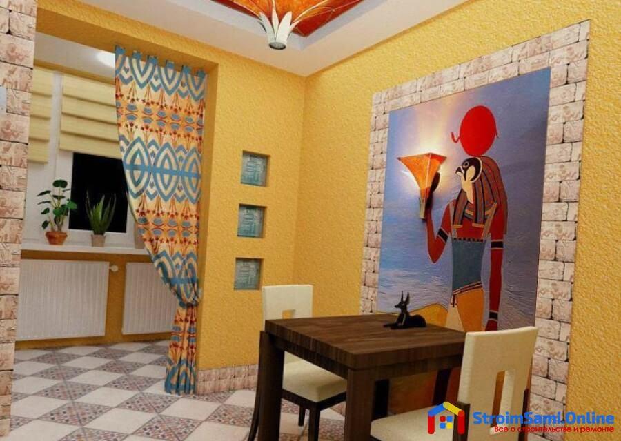 На фото: покраска стен на кухне своими руками