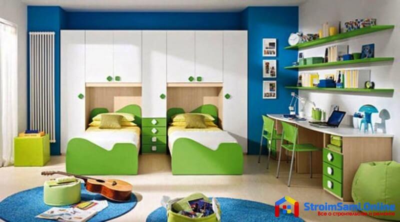 На фото: рабочее место в детской комнате