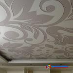 На фото: тканевый натяжной потолок