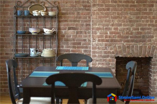 На фото: декоративный облицовочный кирпич в интерьере