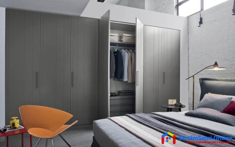 Гардеробная в спальне: фото дизайн