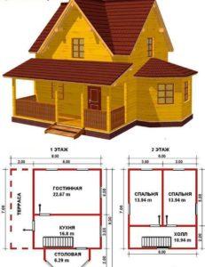 Проекты домов и коттеджей бесплатно чертежи и фото