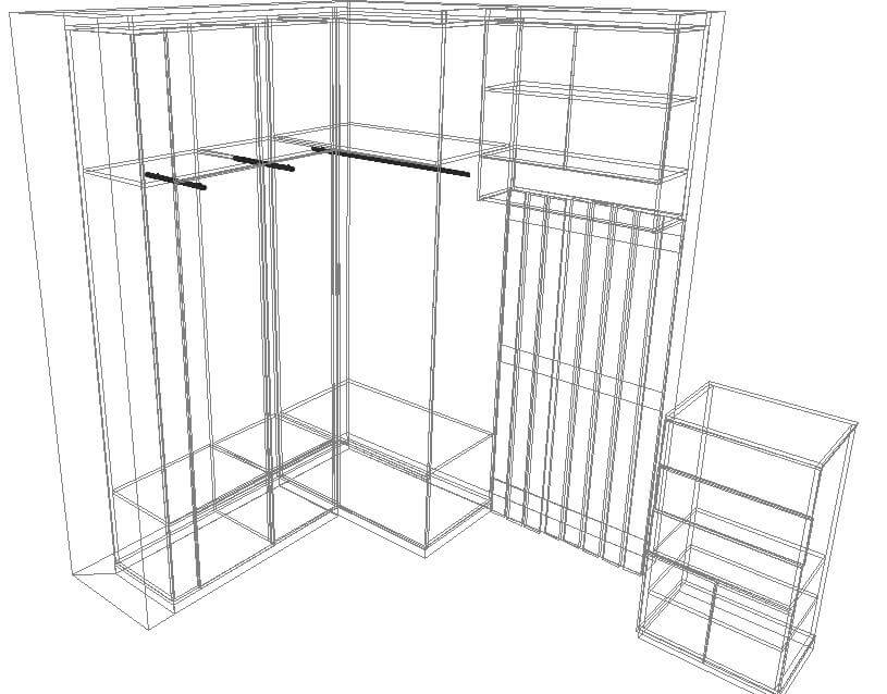 Дизайн-проект маленькой прихожей